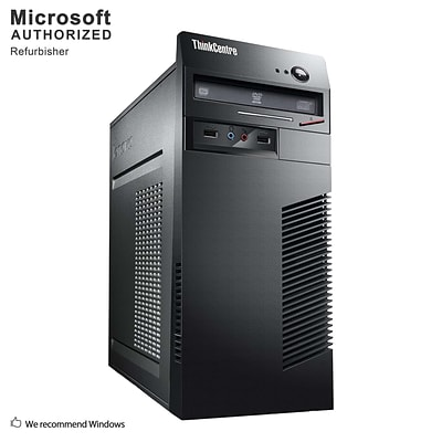 Lenovo ThinkCentre M72E Tower Refurbished Desktop Computer, Intel i5-3470, 16GB RAM, 240GB SSD (S18VFTLEDT02P30)