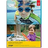 Adobe Elements 2019 (Premiere & Photoshop) Student & Teacher Edition for 1 User, Windows, Download (
