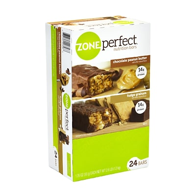 ZonePerfect Nutrition Bars, Chocolate Peanut Butter & Fudge Graham, 1.58 oz., 24/Pack (220-00818)
