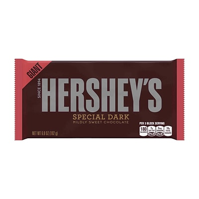 HERSHEYS SPECIAL DARK Mildly Sweet Chocolate Bar, Giant, 6.8 Ounces, 3 Pack (246-00356)
