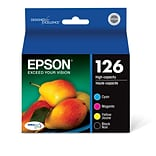 Epson 126 DURABrite Ultra Inkjet Multi Color Ink, High Capacity (T126120-BCS)