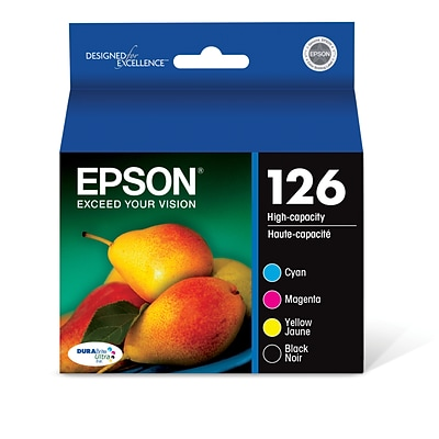 Epson 126 Black/Color Ink Cartridge, High Yield, 4/Pack