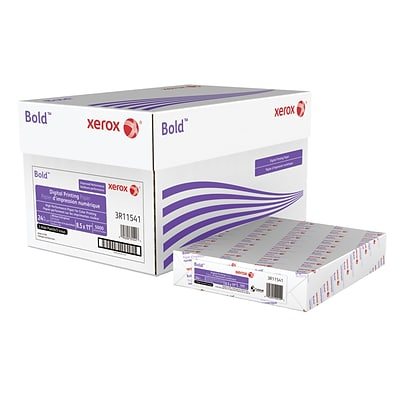 Xerox® Bold Digital™ Printing Paper, 24 lb. Text, 98 Bright, 3 Punch, 8.5 x 11, 5000/Carton (3R11541)