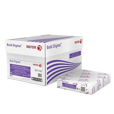 Xerox® Bold Digital™ Printing Paper, 60 lb. Cover, 100 Bright, 8.5x11, Carton (3R11767)