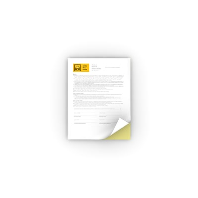 Xerox® Bold™ Digital Carbonless Paper, 2 Part, Straight/Reverse, White/Canary Yellow