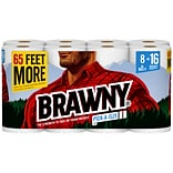 Brawny® Pick-A-Size XL Paper Roll Towels, 2-ply, White, 8 Rolls/Carton