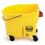 Rubbermaid WaveBrake® Janitorial Bucket and Casters, 35 Quart, Yellow (2064914)