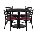 Flash Furniture Table Set, 36D x 36W, Black (RSRB1005-GG)