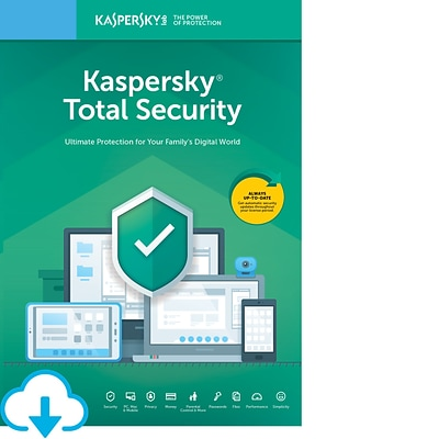 Kaspersky Total Security for 5 Devices, 2 Accounts, 1 Year, Windows/Mac, Download (KL1949ADEFS-USO)