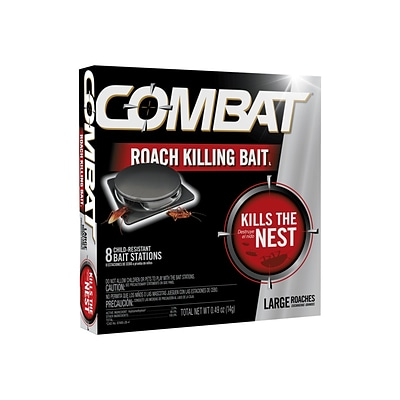 Combat Source Kill 2 Bait for Roaches, Unscented, 0.49 Oz., 8/Box