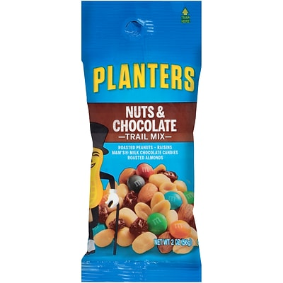 Planters Nuts & Chocolate Trail Mix, 2 oz. Bags (Pack of 72) (00270)