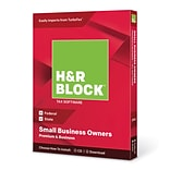 H&R Block 2018 Premium & Business Tax Software, 1 User, Win and Mac Disc (1116600-18)