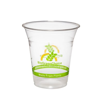 BioGreenChoice 12 oz. Clear Compostable PLA Cold Cup; 1000/CS
