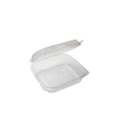 BioGreenChoice Compostable PLA Take Out Container; Clear, 9L x 5W x 3H, 250/Case