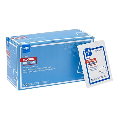 Medline Alcohol Pads, 1000/Carton (MDS090670)