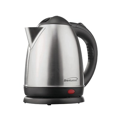 Brentwood® 50.7 oz. Electric Kettle, Brushed Stainless Steel (KT-1780)