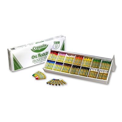 Binney & Smith Crayola® Oil Pastels, Assorted Colors, 336/Ct