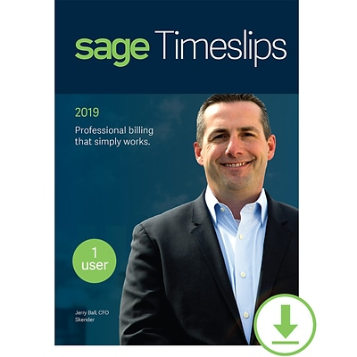 Sage Timeslips 2019 Time and Billing 1-User for Windows (1 User) [Download]