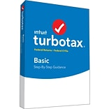 TurboTax Basic Fed + Efile 2018 for 1 User, Windows, Disk (606044)