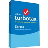 TurboTax Deluxe Fed + E-File + State 2018 for 1 User, Windows/MAC, Disk (606067)