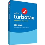 TurboTax Deluxe Fed + Efile 2018 for 1 User, Windows, Disk (606076)