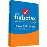 TurboTax Home & Business Fed + Efile + State 2018 for 1 User, Windows, Disk (606090)