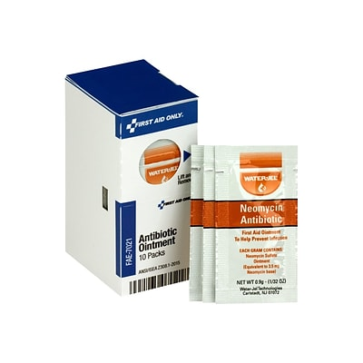 First Aid Only SmartCompliance Refill Antibiotic Ointment Packets, 0.03 oz., 10/Box (FAE-7021)