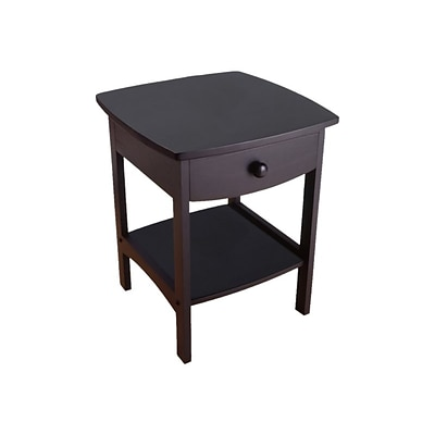Winsome Claire 18W x 18D Accent Table, Black (20218)