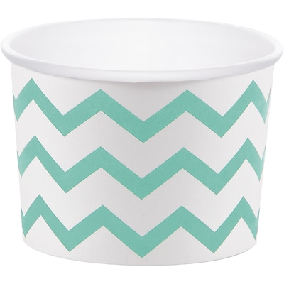 Creative Converting Mint Green Chevron Treat Cups, 24 Count (DTC324503TRT)