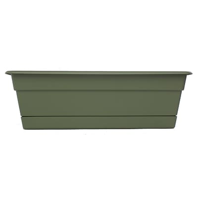 Bloem 24 Dura Cotta Window Box Planter, Living Green