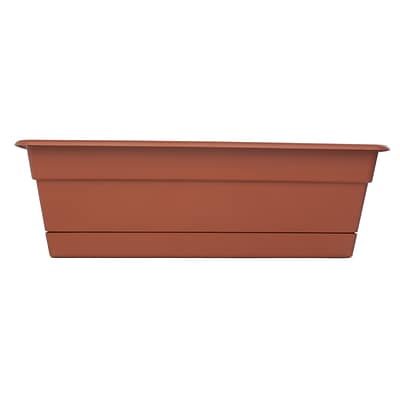 Bloem 30 Dura Cotta Window Box Planter, Terra Cotta, 12/Pk