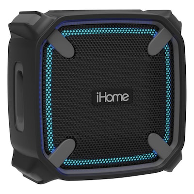 iHome® IBT371BG Weather Tough 3 Portable Bluetooth Speaker with Speakerphone, Gray/Black (IBT371BG)