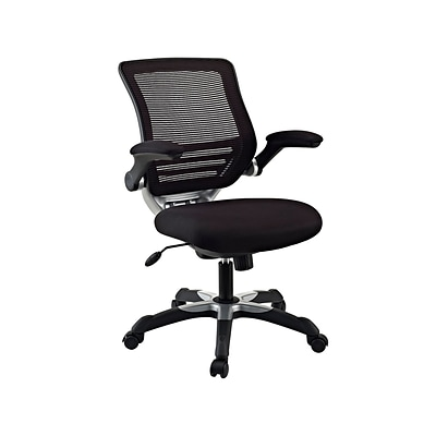 Modway Edge Mid-Back Mesh Task Chair, Adjustable Arms, Black