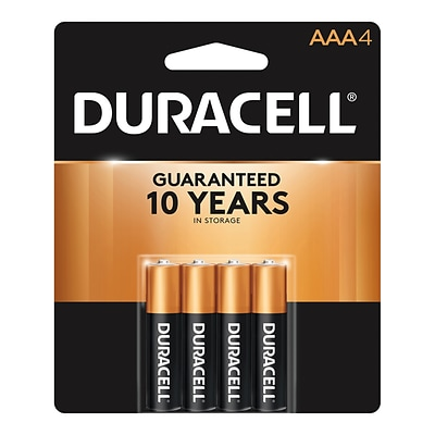 Duracell Coppertop AAA Alkaline Batteries, 4/Pack