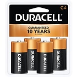 Duracell CopperTop Alkaline Batteries, C, 4/Pack (MN1400R4ZX)