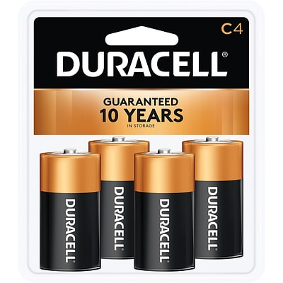 Duracell Coppertop C Alkaline Batteries, 4/Pack (MN1400R4ZX)