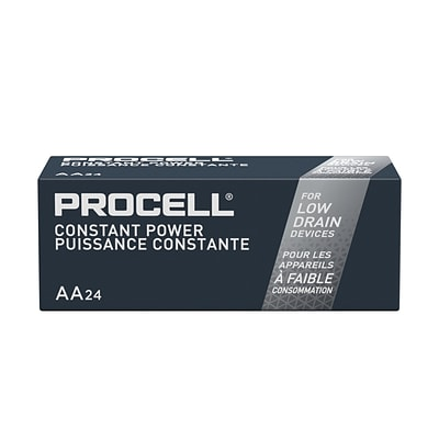 Duracell Procell Alkaline Batteries, AA, 24/Pack (PC1500BKD01)