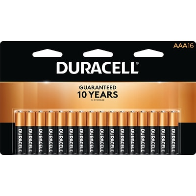 Duracell Coppertop AAA Alkaline Batteries, 16/Pack (MN24B16)