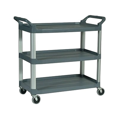 Rubbermaid 40H x 20W x 37.88D Plastic Rolling Utility Cart, Gray (FG409100GRAY)