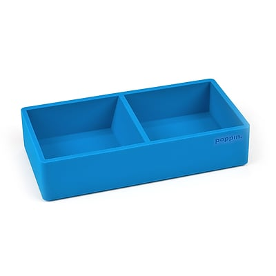 Poppin Softie This and That Tray, Pool Blue, 6 Pack (106326)