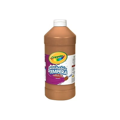 Crayola Artista II Washable Tempera Paint, Assorted, 16 oz., 12/Carton (54-8216)