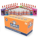 Elmers Slime Class Pack, Slime Activator, Non Toxic,Clear and Glitter, 60/Pack (2062244)