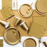 Creative Converting Gold Party Supplies Kit (DTC3276X2A)