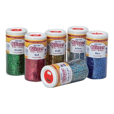 Spectra Glitter, Assorted, 6/Pack (91370)