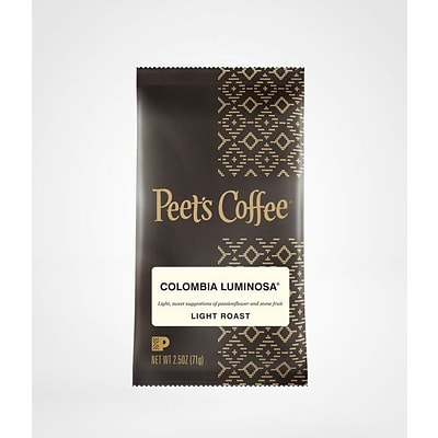 Peets Coffee Columbian Luminosa Ground Coffee, Light Roast, 2.5 oz (PCE01337)