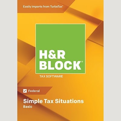 H&R Block 18 Basic for 1 User, Windows, Download