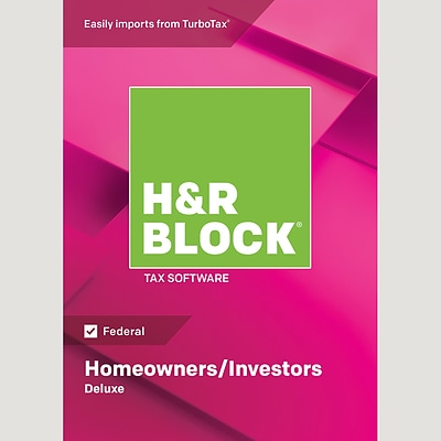 H&R Block 18 Deluxe for 1 User, Windows, Download