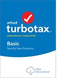 TurboTax Basic Fed + Efile 2018 for 1 User, Mac, Download (0606043)