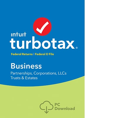 TurboTax Business Fed + Efile 2018 for 1 User, Windows, Download (0606057)
