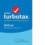 TurboTax Deluxe Fed + Efile + State 2018 for 1 User, Mac, Download (0606059)